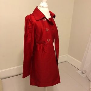 Kenneth Cole Reaction Jackets & Coats - New Kenneth Cole Reaction Red Trench